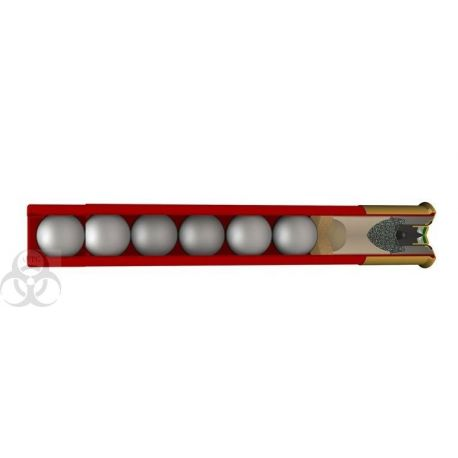 410 Chevrotines - 25x cartouches chevrotines - calibre 36 - 410