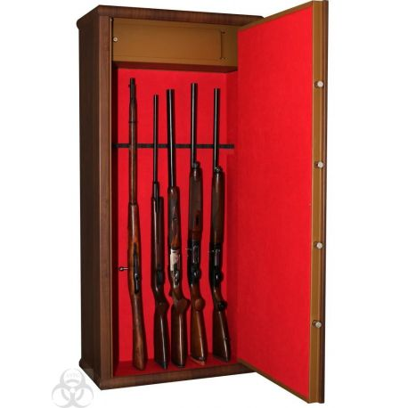Coffre INFAC Couleur Bois 12 Armes avec Lunettes - L12