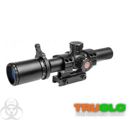 Lunette AR - TRUGLO SCP TAC 1-6x24 IR SPC 1PC Tru Brite 30 mm - 223 - 308