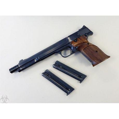 """Exceptionnel - Smith & Wesson Modèle 41 - Canon 7""""3/8 - Calibre 22 LR"""