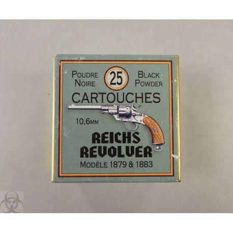 cartouches 10.6 Reichs Revolver 1879 1883