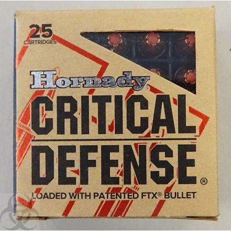 9 mm Critical Defense - Hornady - 115 Grains - 9 para 9x19