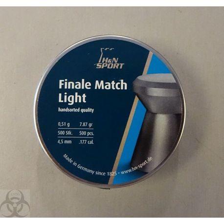 500 plombs H&N Sport Final Match Light 4.5 mm