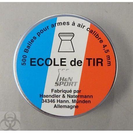 500 plombs H&N Sport - Ecole de Tir - 4.5 mm