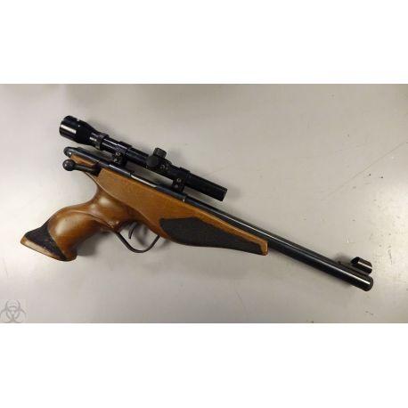 Pistolet 1 coup 22 LR avec Lunette