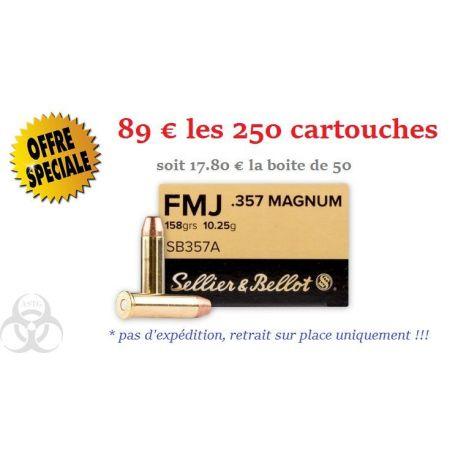 250X 357 Magnum - Sellier & Bellot - 158 gr FMJ