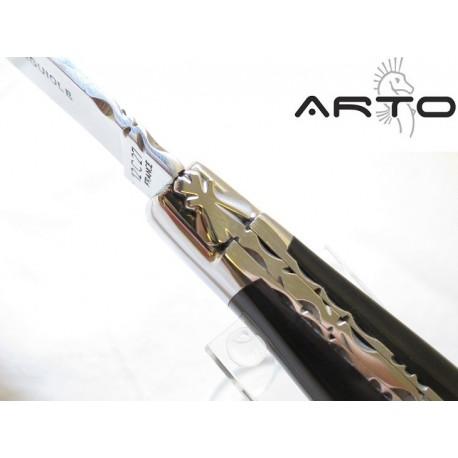 Laguiole Artisan ARTO Prestige Corne Noire + tire bouchon 12 cm
