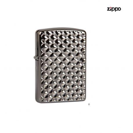 Zippo Armor 28186 Ebony Engine Turn a Star