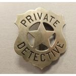 Badge US - Private Détective - Authentique