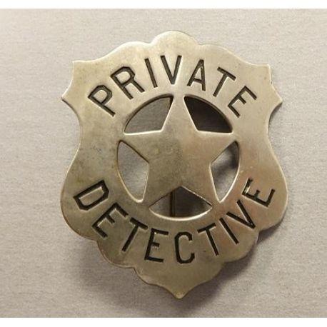 Badge US - Private Détective - Authentique