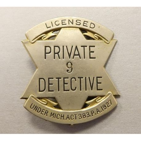 Badge US - Private Détective - Authentique 1927