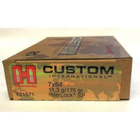 7x64 - Hornady CUSTOM INTERNATIONAL - 175 Gr INTERLOCK SP