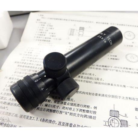 RARE - lunette SKS 2.5x18 - POLY TECH